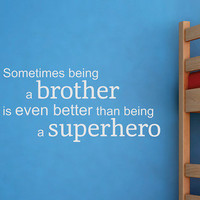 Wallquotes.com by Belvedere Designs - White &#x27;Superhero Brother&#x27; Wall Quote 