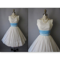50&#x27;s Wedding Dress // Vintage 1950&#x27;s White by TheVintageStudio