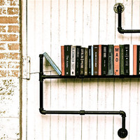 Bookshelf Industrial Pipe Level 3 by stellableudesigns on Etsy