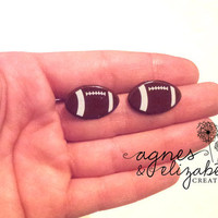 Football Earrings by AgnesElizabeth on Etsy