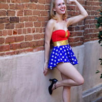 Wonder Woman swimsuit dress xs-XL made to order