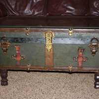 Antique trunk coffee table by NorthwestGirls on Etsy