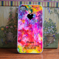 iPhone Case Colorful splashes - iPhone 4S and iPhone 4 Case Cover
