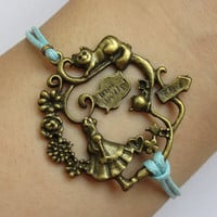 Alice in Wonderland Bracelet Antique Brass Alice by GiftsofTansy