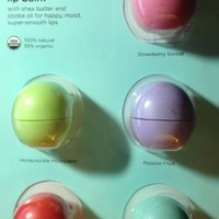 eos Organic Smooth Sphere Lip Balm - Summer Fruit, Sweet Mint, Strawberry Sorbet, Passion Fruit, Ho