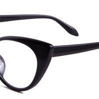 Alicia Eyeglasses with Black Plastic Aviator Full Frame buy at proopticals.com