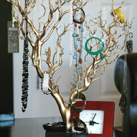 30&quot; Gold Painted Jewelry Tree