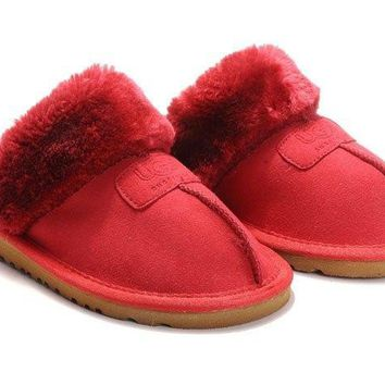 UGG Coquette Slippers 5125 Red Outlet UK