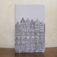 Cityscape letterpress note book by albertinepress on Etsy