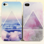Scrub Blue/Pink Cloud Case for iPhone 4 4S