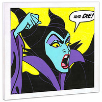Limited Edition Disney Fine Art Pop! ''Birthday Wishes'' Maleficent Giclée on Canvas | Disney Store