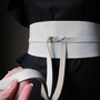 Ivory - Ivory Leather Obi Belt