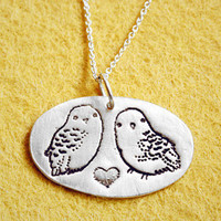 $49.50 SILVER OWL NECKLACE  ecofriendly sterling silver by boygirlparty