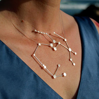 Sagittarius Zodiac Constellation Sterling Silver by jesikajack