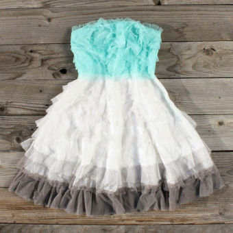 Tiers & Tulle Party Dress, Sweet Women's Country Clothing