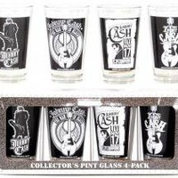 ROCKWORLDEAST - Johnny Cash, Glass Mug Set, Various