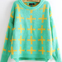 Sweet Cross Round Neck Sweater S008972