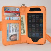 Navor iPhone Life Protective Book Style Folio Wallet Leather Case for iPhone 4 4S - Fit for Verizon