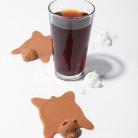Urban Outfitters - Bear Rug Coaster - Set of 4