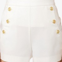 Nautical Button Sailor Shorts | FOREVER 21 - 2045374788