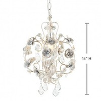 Wake Up Frankie - Small Antique White Rose Beaded Chandelier : Teen Bedding, Pink Bedding, Dorm Bedding, Teen Comforters