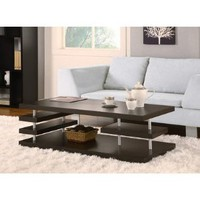 Amazon.com: Maxton Modern Coffee Table in Cappuccino: Furniture &amp; Decor
