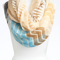 David & Young Zigzag Mix Print Scarf | Nordstrom