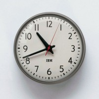 "1960s IBM 13.5"" Standard Issue Clock"