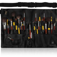 SHANY Cosmetics Professional Vinyl Makeup Apron with Makeup Artist Brush Belt, Light Weight, 8 Ounc