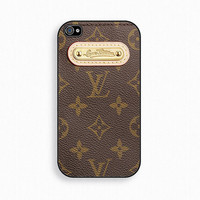 Louis Vuitton Inspired  Louis Smart Gold - iPhone 4 Case, iPhone case, iPhone 4s Case, iPhone 4 Cover, Hard iPhone 4s Case
