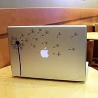 Dandelion Blowing in the Wind Laptop / Notebook by lewasdesigns