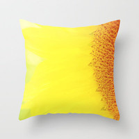 Sunflower Throw Pillow by Erin Johnson | Society6