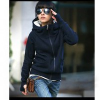 New Arrival Autumn&amp;Winter Fashion Style Cotton Polo Neck Coat For Women 