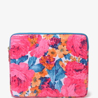 Floral Faux Croco Tablet Case
