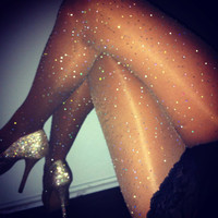 crystalized sheer tights by dbleudazzled