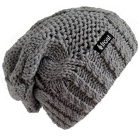 Frost Hats Winter Hat for Women GRAY Slouchy Beanie Hat Knitted Winter Hat Frost Hats Gray