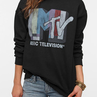 Urban Outfitters - Junk Food MTV Sweatshirt - Black