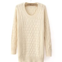 *Free Shipping* Beige Women One Size Sweater TBHTK1205