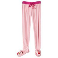 The Pink Panther® Women's Footie Pajama Pant - Pink