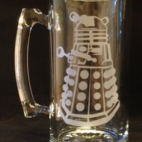 Dalek Dr Doctor Who Etched Stein EXTERMINATE