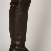 Knee High Pleather Riding Boots - Brown from Breckelles at Lucky 21 Lucky 21