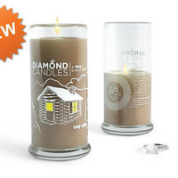 $25 Diamond Candles, Cozy Cabin -- There is a RING INSIDE!!!