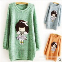 Angel little girl Long Slim thicker sweater
