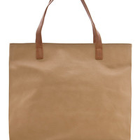 MANGO - SHOES - Leather effect shopper bag