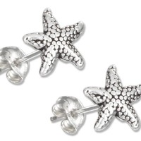 Sterling Silver Mini Starfish Earrings on Posts.