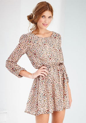 dELiAs - Leopard Print Chiffon Dress