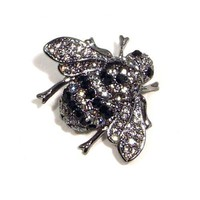 Image Detail for - Amazon.com: Clear and Smokey Black Austrian Rhinestone Bumble Bee ...