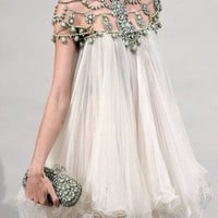Marchesa Spring 2011 RTW Beaded Neckline Chiffon Dress - Celebrities who wear Marchesa Spring 2011 RTW Beaded Neckline Chiffon Dress / Coolspotters