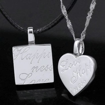 Love Heart 925 Sterling Silver Anniversary Couple Necklace - GULLEITRUSTMART.COM