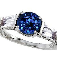 Original Star K(tm) Round 7mm Created Sapphire Engagement Ring LIFETIME WARRANTY: Jewelry: Amazon.com